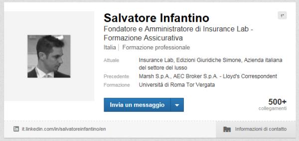 Visualizza il profilo di Salvatore Infantino su LinkedIn
