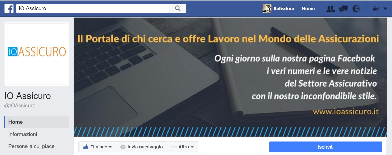 Pagina Facebook di IO Assicuro