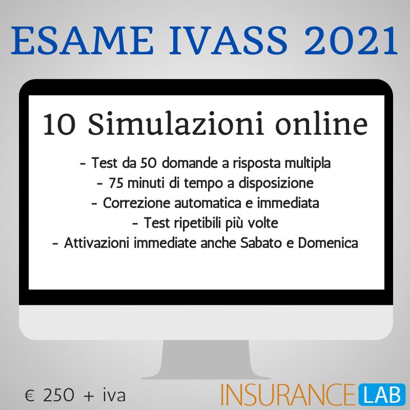 BANNER SIMULAZIONI ONLINE ESAME IVASS 2021